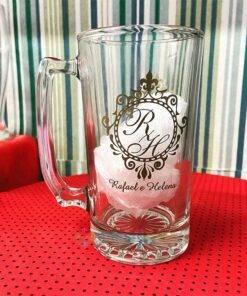 Canecas de Vidro Para Cerveja Personalizadas 383mL Manhattan para Brindes e Eventos 7