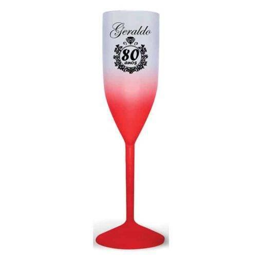 Taça de Champanhe de Acrílico Degradê Personalizada