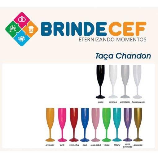 Taça de Acrílico Chandon 200ml Personalizada