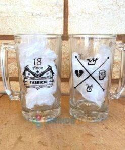 Canecas de Vidro Para Cerveja Personalizadas 383mL Manhattan para Brindes e Eventos 4