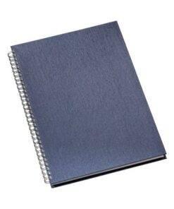 Caderno de negocios pequeno capa metalizada personalizado