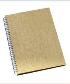 Caderno de negocios pequeno capa metalizada personalizado 6