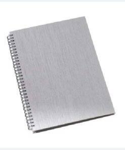 Caderno de negocios pequeno capa metalizada personalizado 5