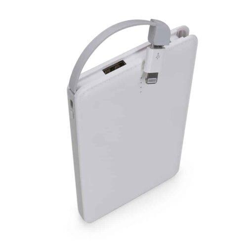 Power Bank Plástico Slim com Indicador Led Personalizado